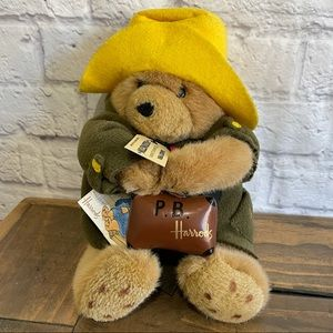 PADDINGTON BEAR HARRODS Collectable Stuffed Bear Plush Stuffy